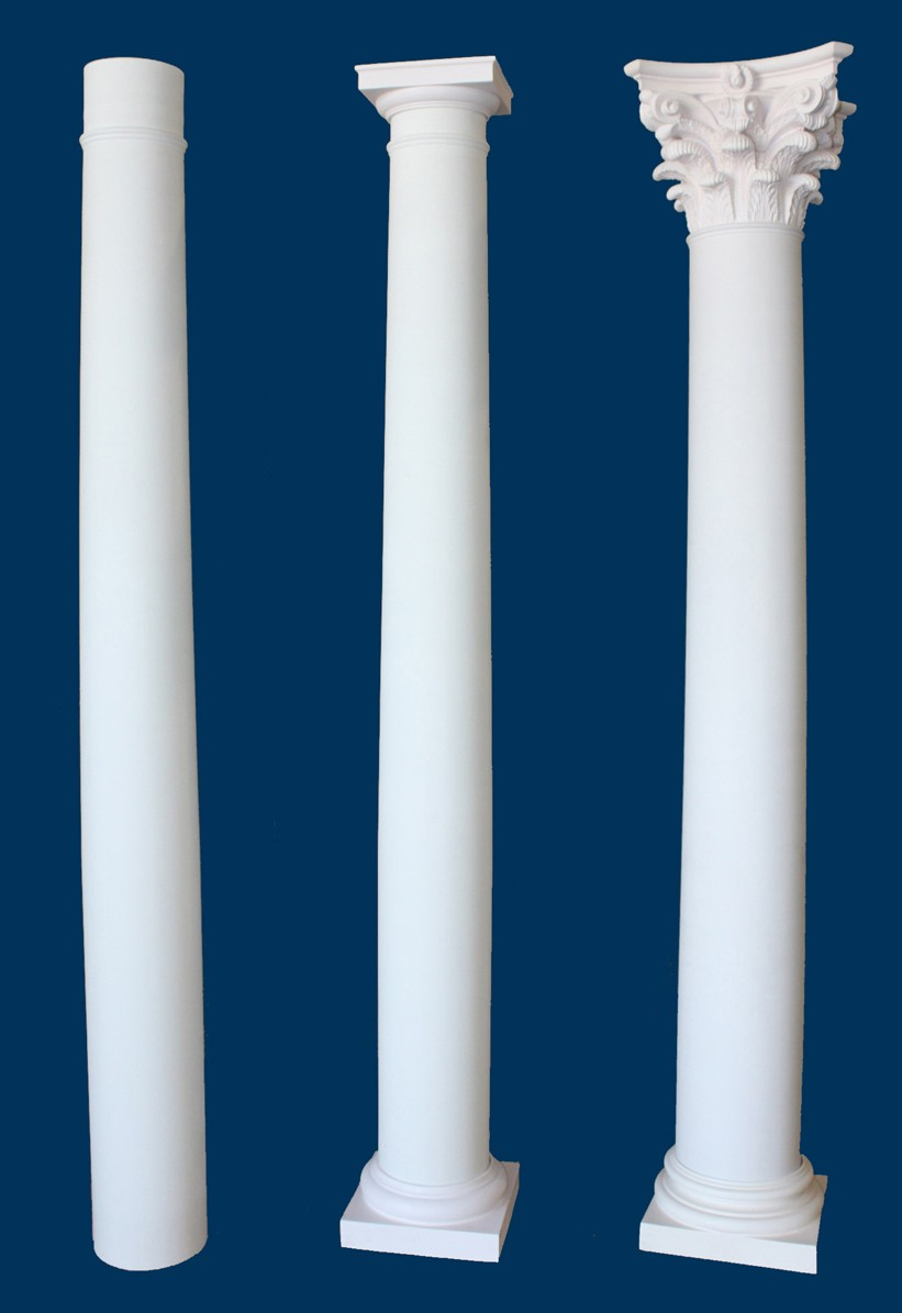 round smooth tapered column