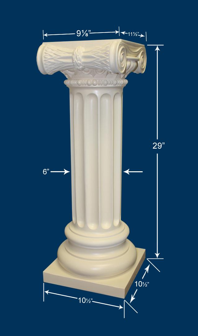 Roman Ionic Pedestal